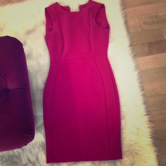 Calvin Klein pink scuba dress